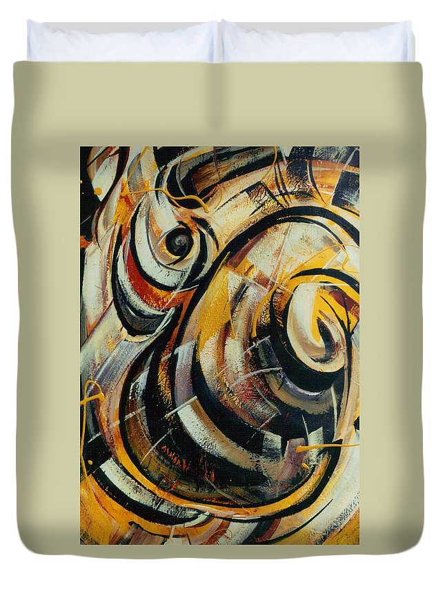 Movement Duvet Cover featuring the painting She Moves Me Vol.3 by Hasaan Kirkland