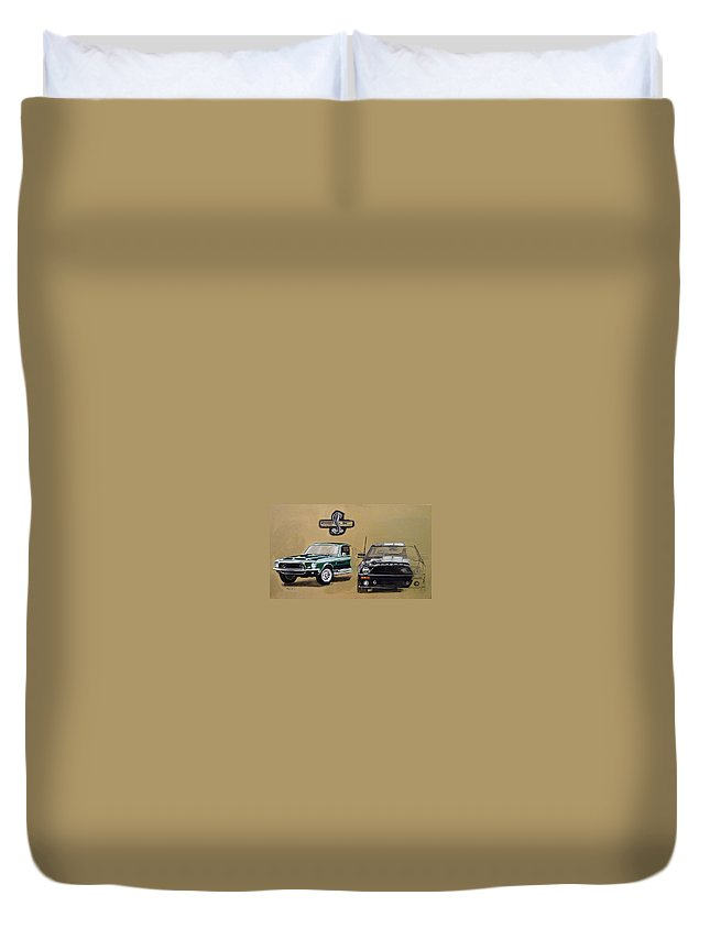 Cars Duvet Cover featuring the painting Shelby 40th Anniversary by Richard Le Page