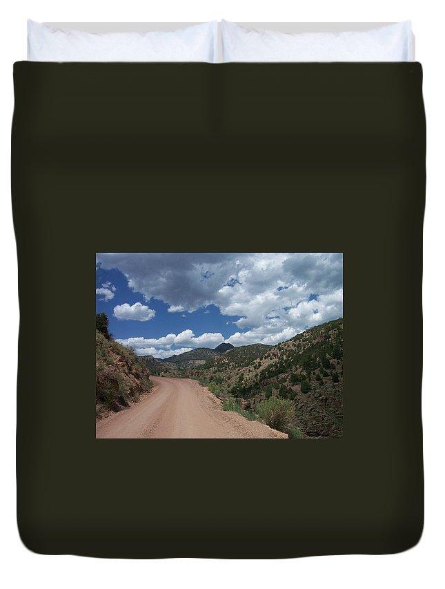 Shelf Road Duvet Cover featuring the photograph Shelf Road by Anita Burgermeister