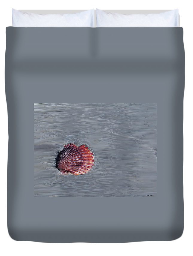 Shells Duvet Cover featuring the photograph Shell Imprint by Linda Sannuti