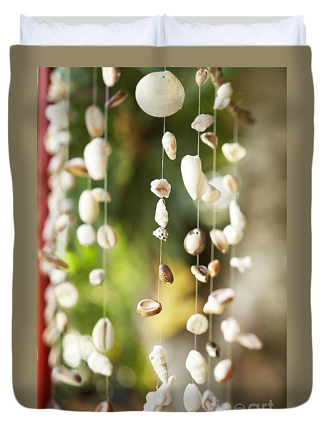 Art Duvet Cover featuring the photograph Shell Windchimes by Kyle Rothenborg - Printscapes