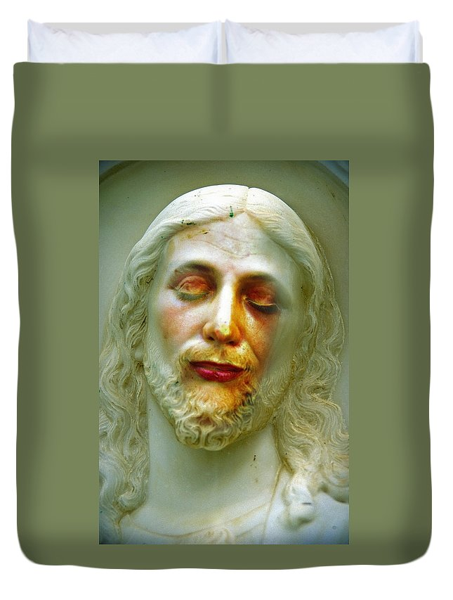 Jesus Duvet Cover featuring the photograph Shesus by Skip Hunt