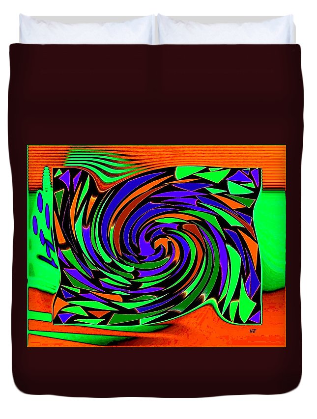 Sahara Duvet Cover featuring the digital art Shifting Sands by Will Borden