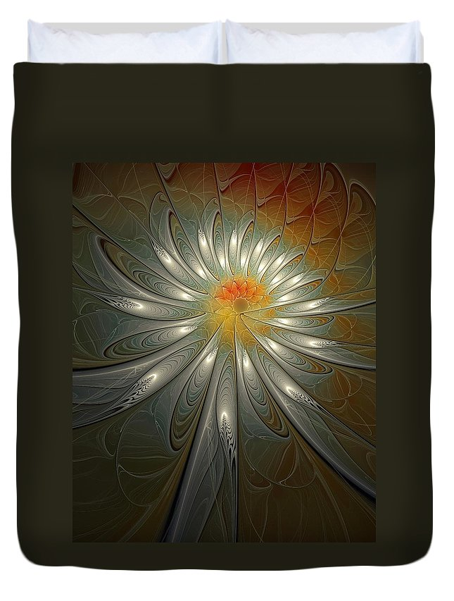 Digital Art Duvet Cover featuring the digital art Shimmer by Amanda Moore