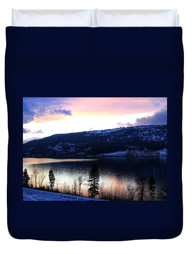 Wood Lake Duvet Cover featuring the photograph Shimmering Waters by Will Borden