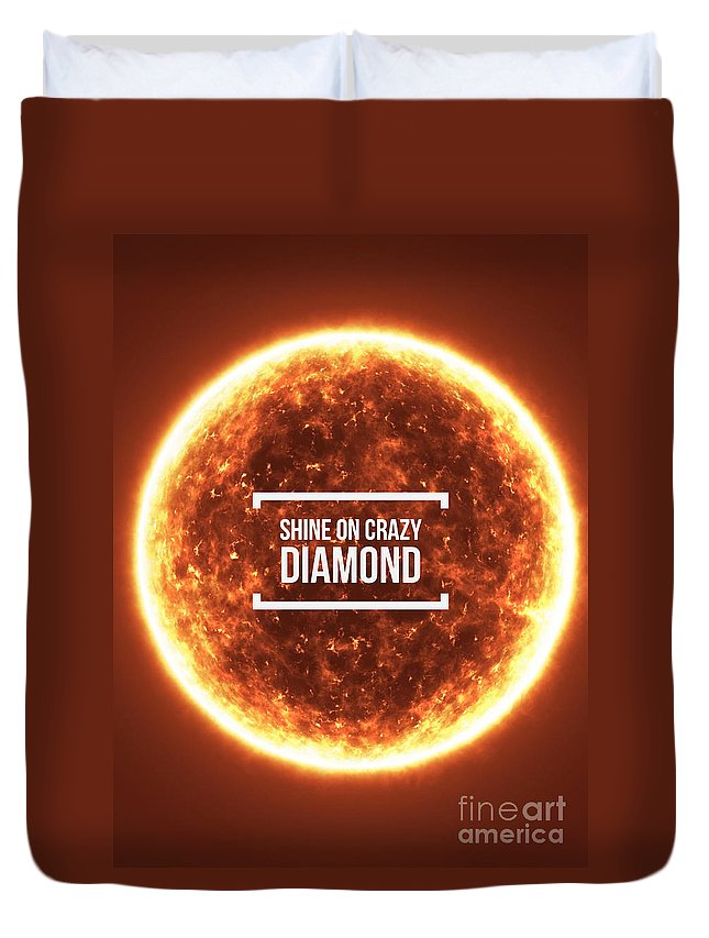 Pink Floyd Duvet Cover featuring the photograph Shine On Crazy Diamond by Edward Fielding