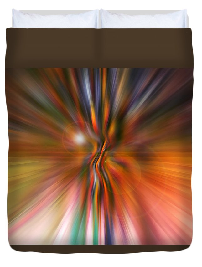 Abstract Art Duvet Cover featuring the digital art Shine On by Linda Sannuti