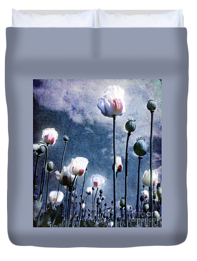Flowers Duvet Cover featuring the photograph Shine Through by Jacky Gerritsen