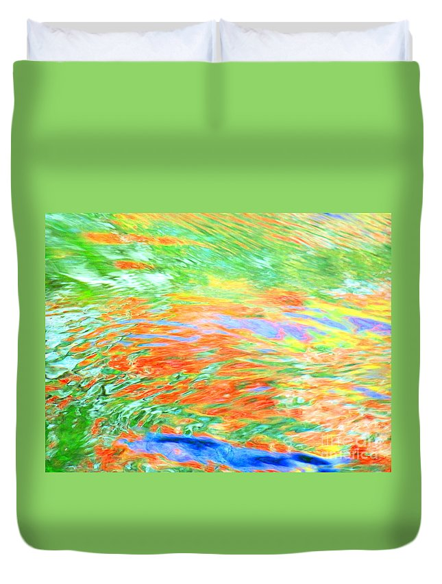 Abstract Duvet Cover featuring the photograph Shine Through by Sybil Staples