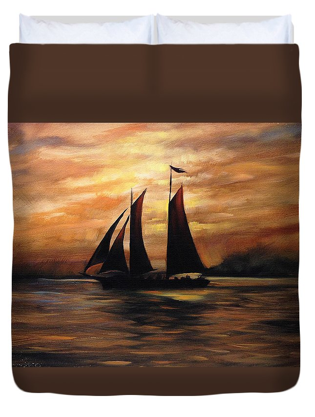 Ships Duvet Cover featuring the digital art Ships by Unknown