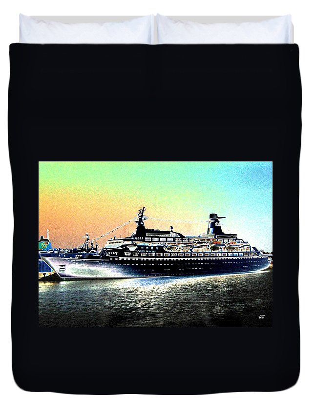 Photo Design Duvet Cover featuring the digital art Shipshape 1 by Will Borden