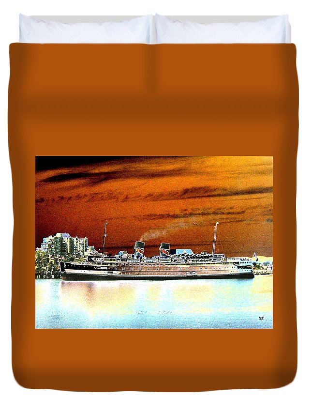 Ship Duvet Cover featuring the digital art Shipshape 2 by Will Borden