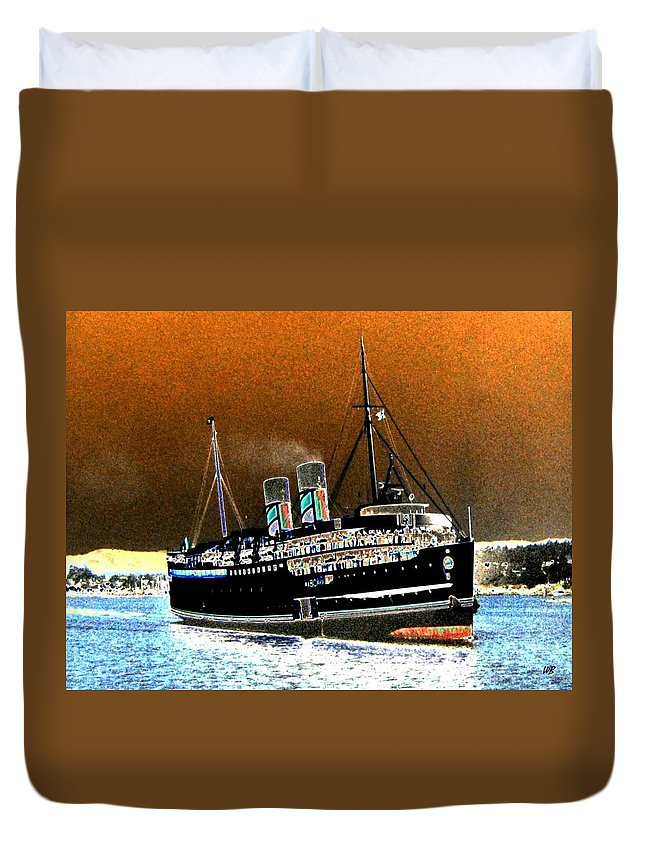 Princess Marguerite Duvet Cover featuring the digital art Shipshape 4 by Will Borden
