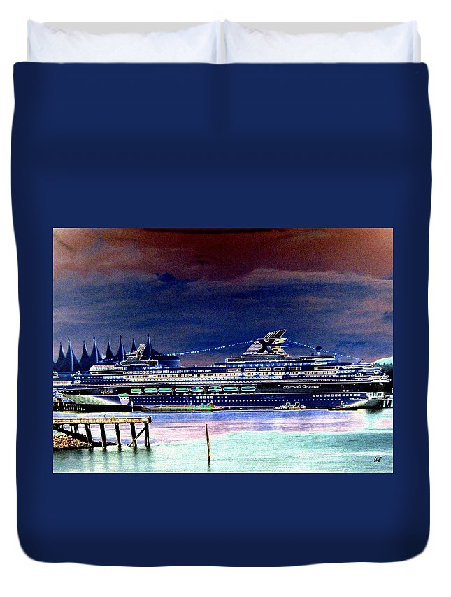 Mercury Duvet Cover featuring the digital art Shipshape 5 by Will Borden