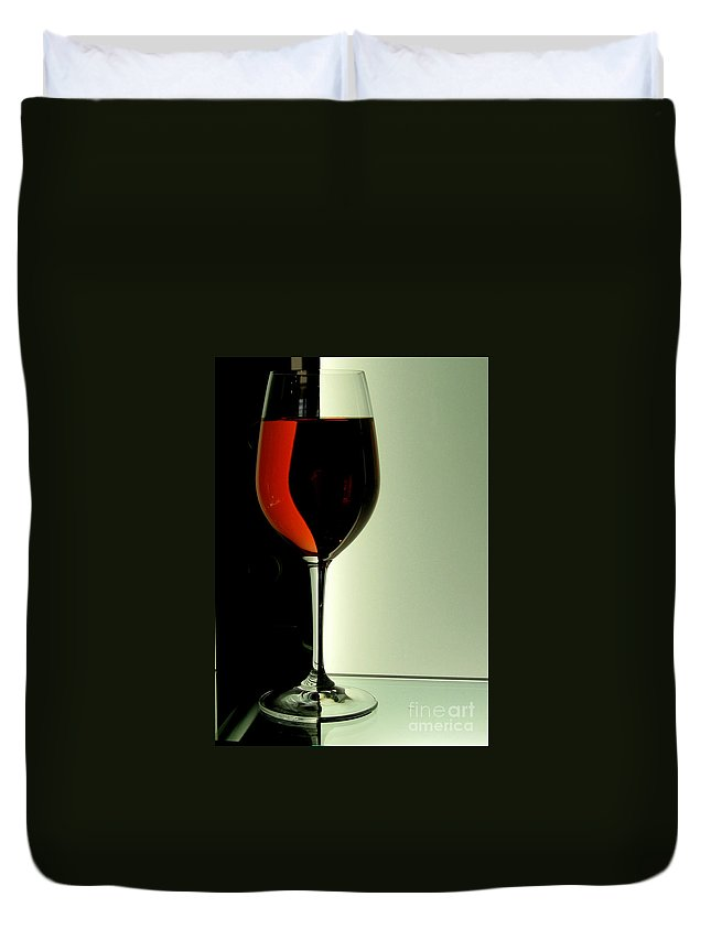 Wine Duvet Cover featuring the photograph Shiraz by Caroline Peacock