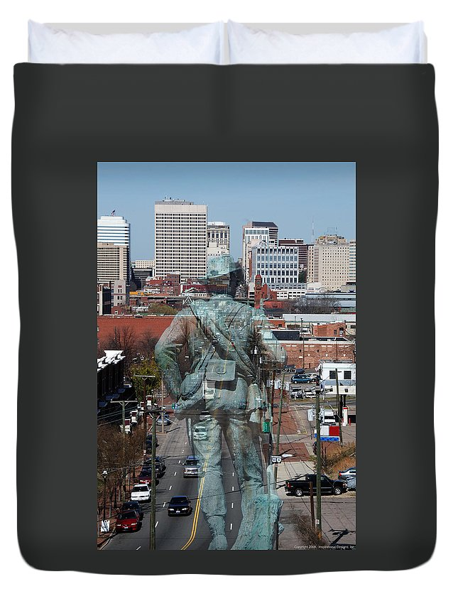 Shockoe Duvet Cover featuring the photograph Shockoe Overlook by Kelvin Booker
