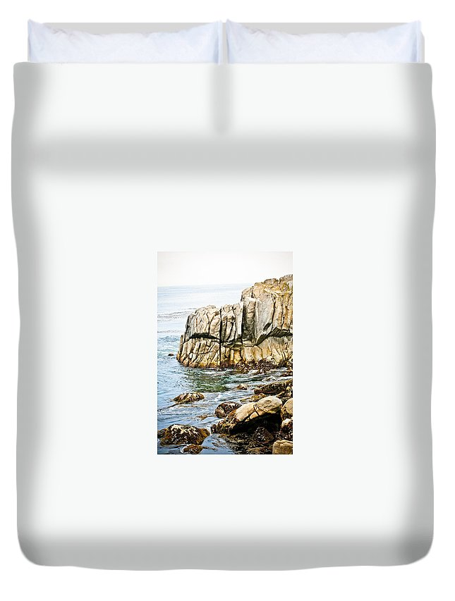 Pebble Beach Duvet Cover featuring the photograph Shores Of Pebble Beach by Marilyn Hunt
