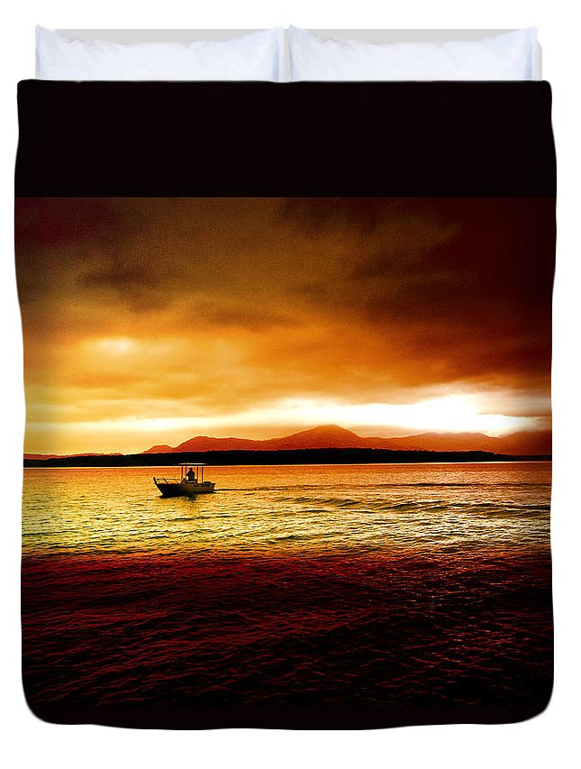 Landscape Duvet Cover featuring the photograph Shores Of The Soul by Holly Kempe
