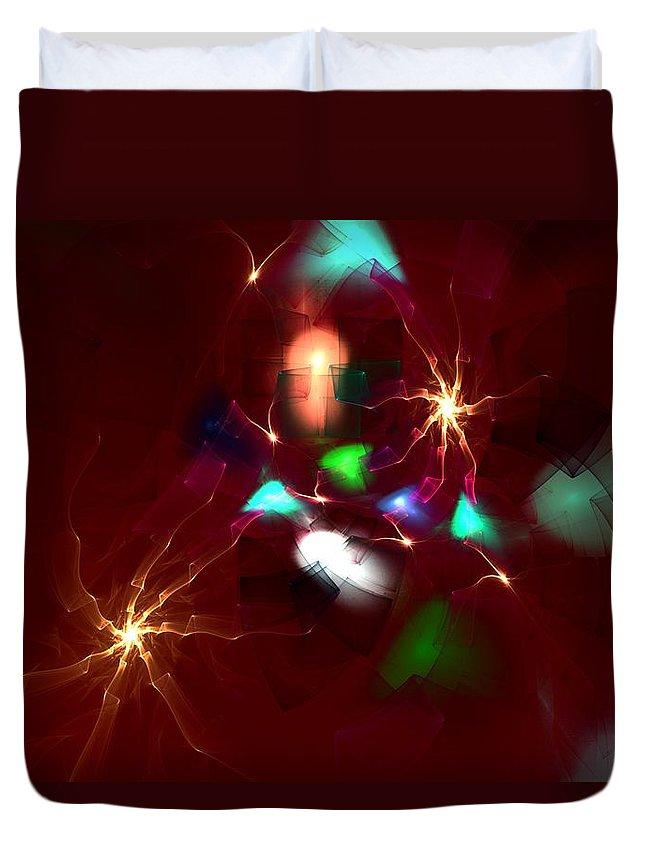 Digital Painting Duvet Cover featuring the digital art Short Circut by David Lane