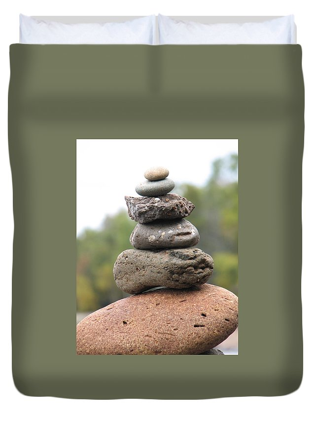Rocks Duvet Cover featuring the photograph Short Stack by Kelly Mezzapelle
