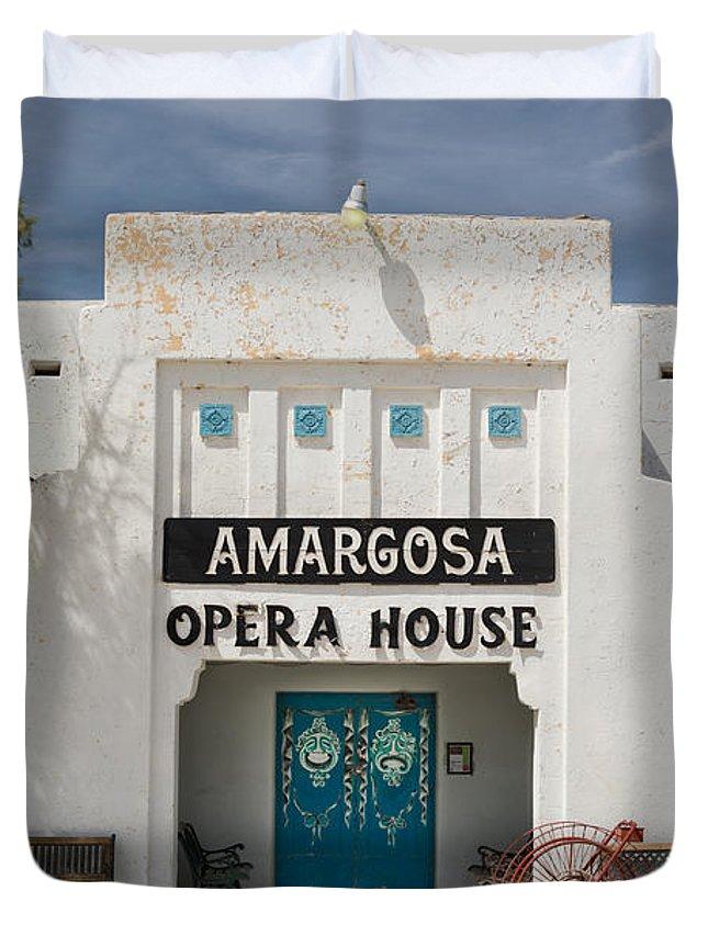 Amargosa Duvet Cover featuring the photograph Show Tonight Amargosa Opera House by Steve Gadomski
