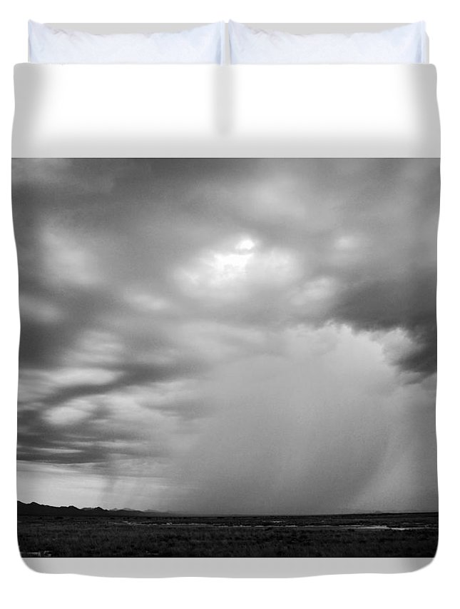 Rain Duvet Cover featuring the photograph Shower On The Horizon. by Brent Hall