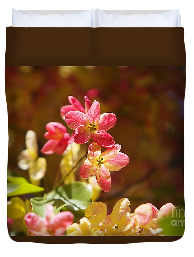 Attractive Duvet Cover featuring the photograph Shower Tree Blossoms by Ron Dahlquist - Printscapes