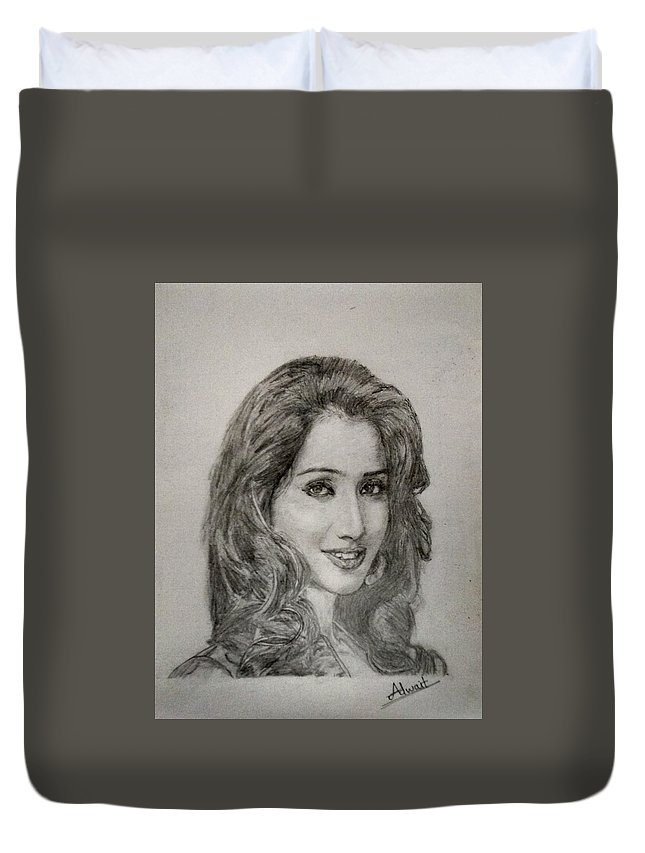 Beautiful Singer Duvet Cover featuring the photograph Shreya Ghoshal by Adwait Relekar