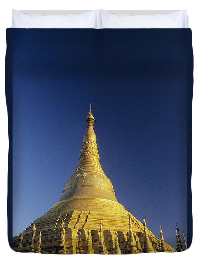 Afternoon Duvet Cover featuring the photograph Shwedagon Paya by William Waterfall - Printscapes
