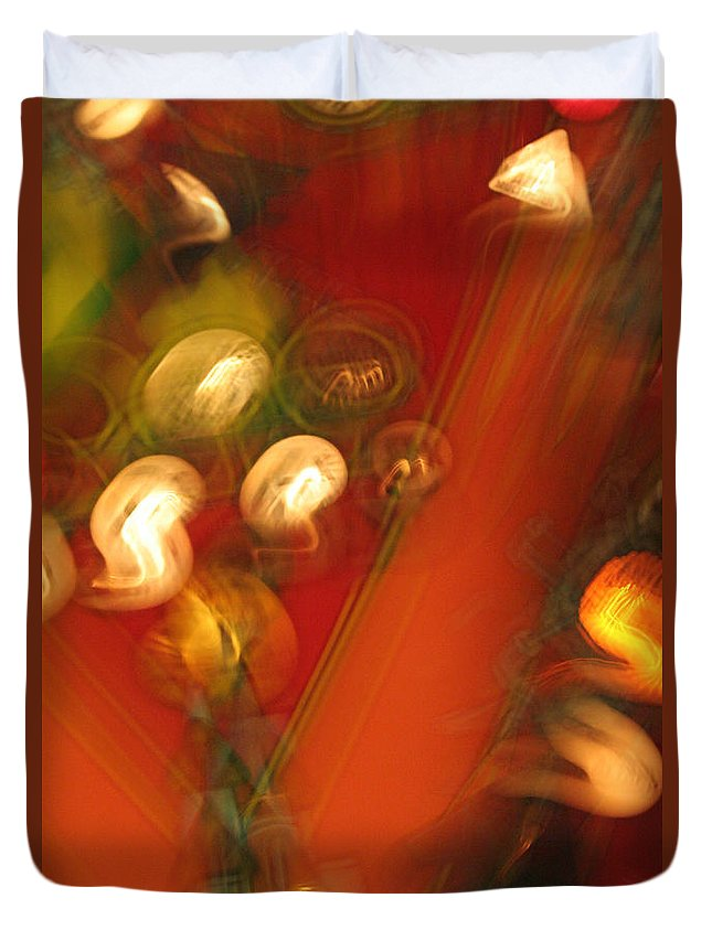 Abstract Duvet Cover featuring the photograph Shwiggle by Ric Bascobert