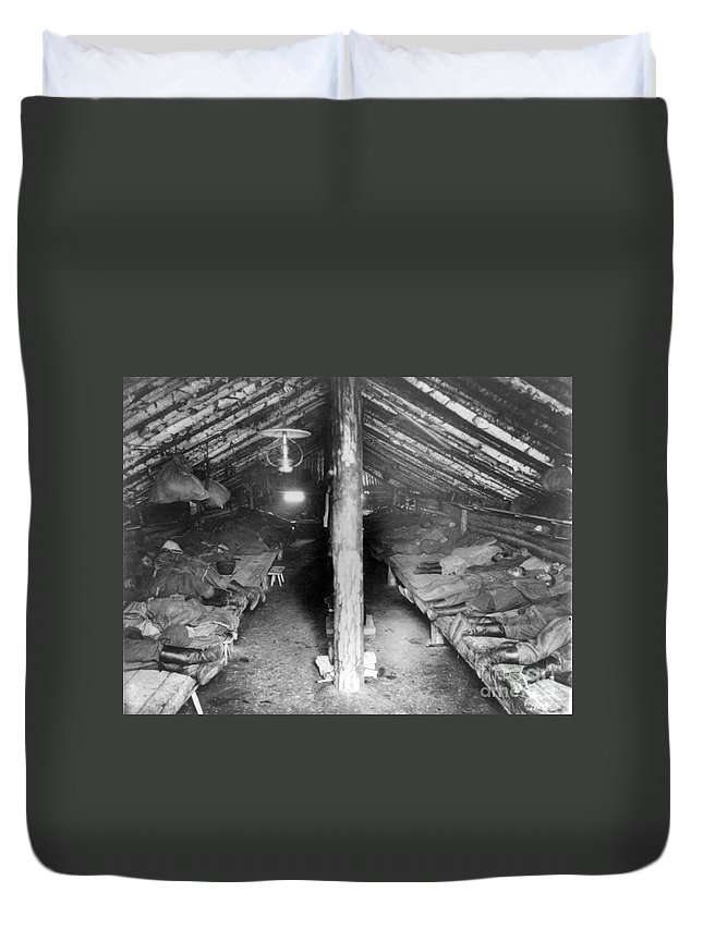 1895 Duvet Cover featuring the photograph Siberia: Convict Barracks by Granger