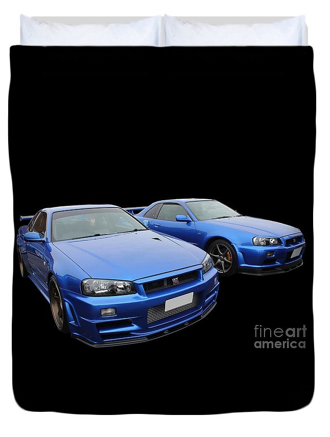 Pair Duvet Cover featuring the photograph Siblings by Vicki Spindler