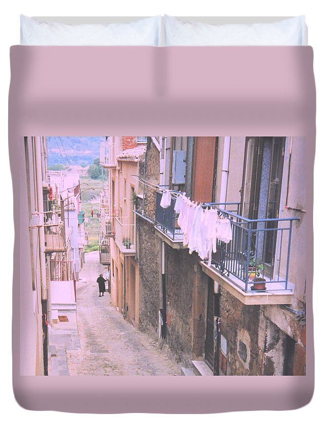 Sicily Duvet Cover featuring the photograph Sicily by Ian MacDonald