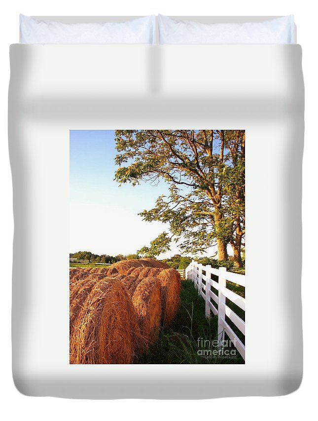 Landscape Duvet Cover featuring the photograph Side-by-side by Todd A Blanchard