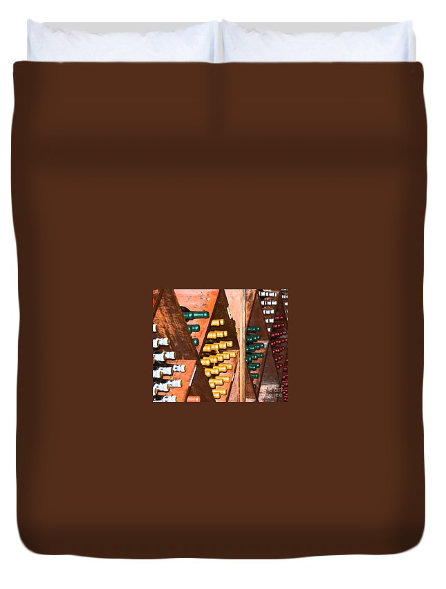 Wine Duvet Cover featuring the photograph Sideways by Debbi Granruth