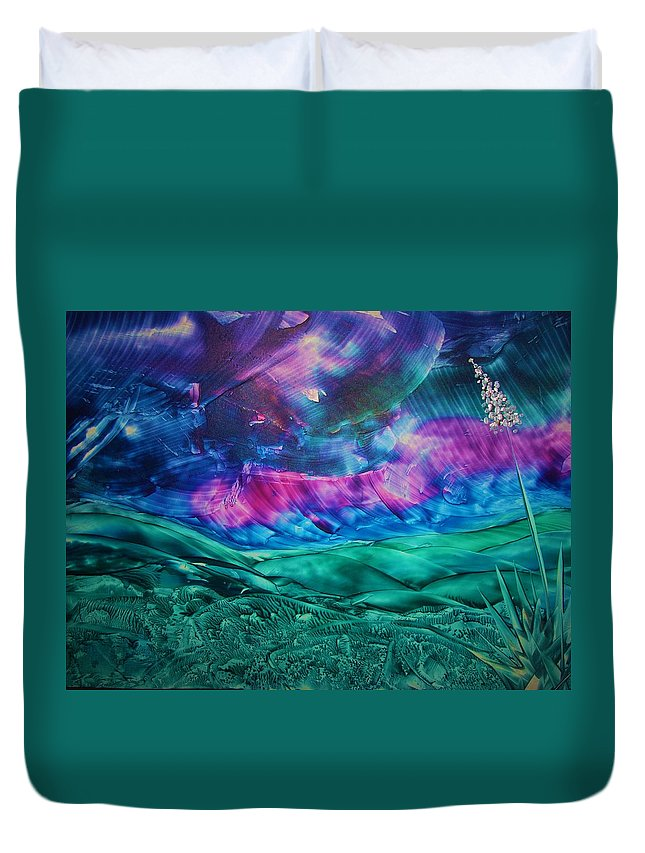 Desert Duvet Cover featuring the print Sierra Vista by Melinda Etzold