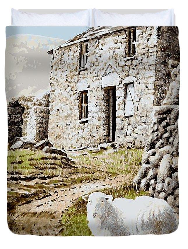 Siglen Duvet Cover featuring the painting Siglen by Alwyn Dempster Jones