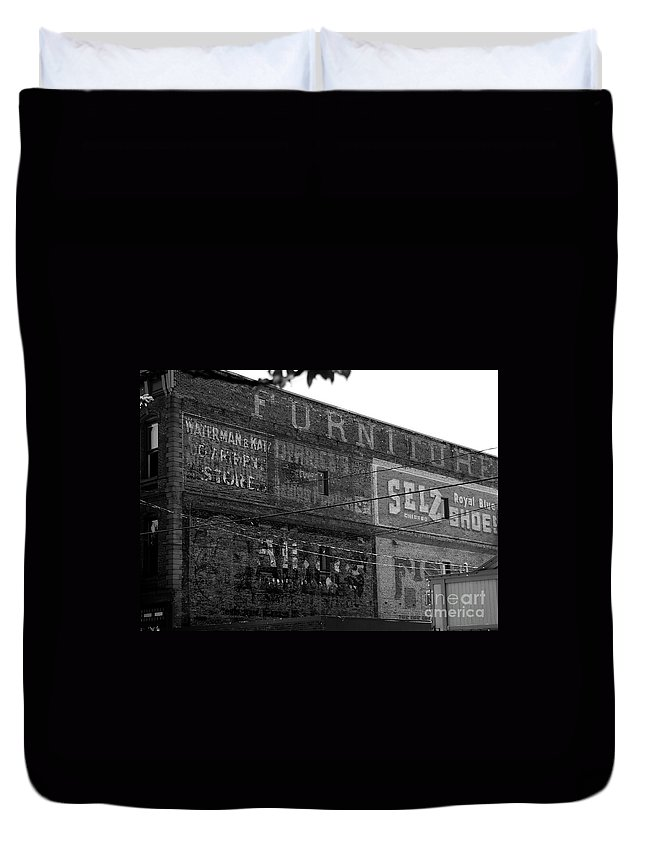 Old Duvet Cover featuring the photograph Sign Of The Times by David Lee Thompson