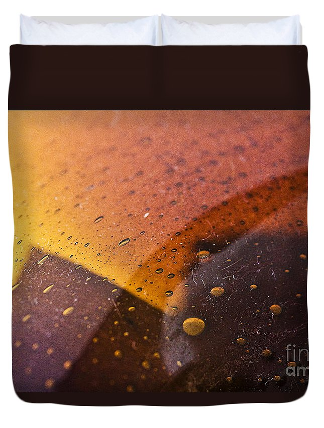 Abstract Duvet Cover featuring the photograph Signs-3 by Casper Cammeraat
