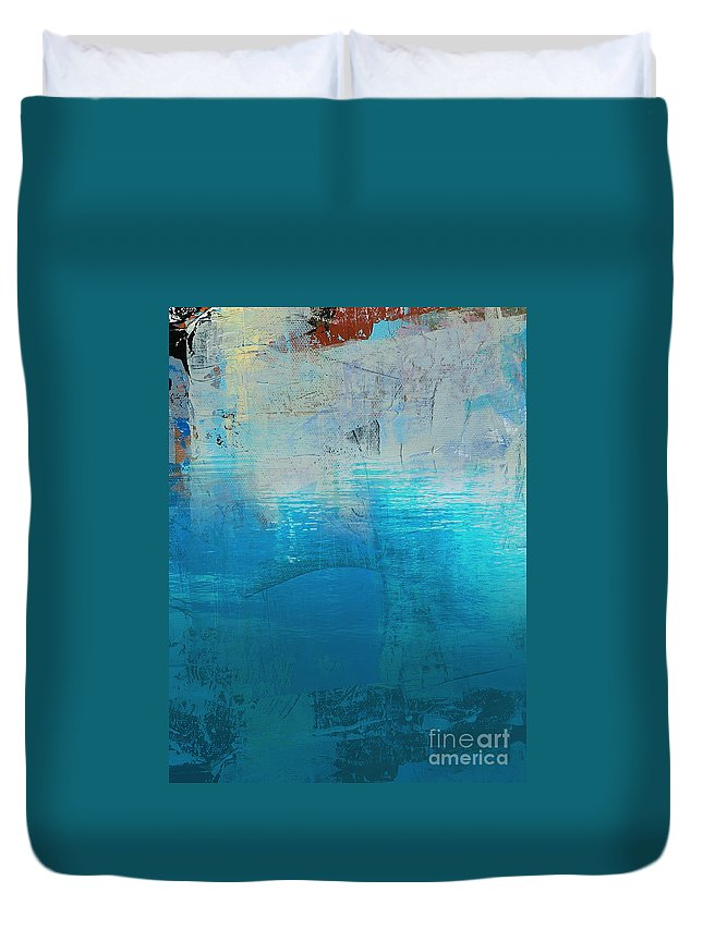 Abstract Art Digital Duvet Cover featuring the painting Silence 1 by Diane Desrochers