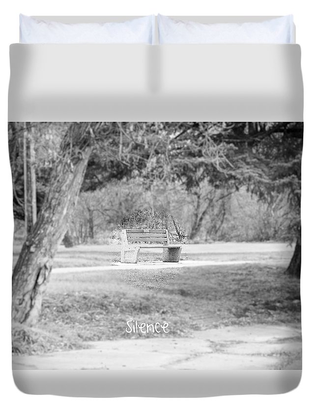 Park Duvet Cover featuring the photograph Silence by Creations by Shaunna Lynn