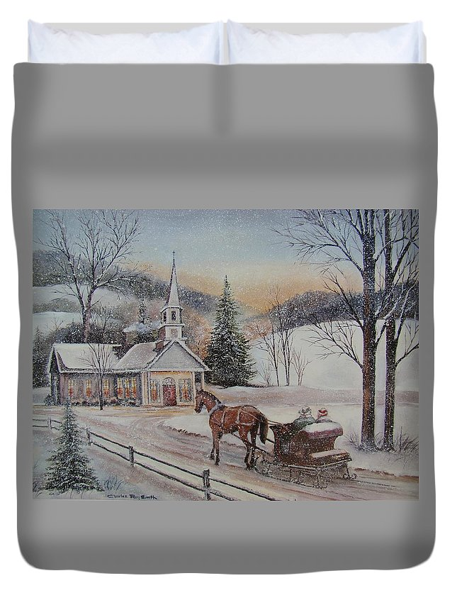Charles Roy Smith Duvet Cover featuring the painting Silent Night by Charles Roy Smith