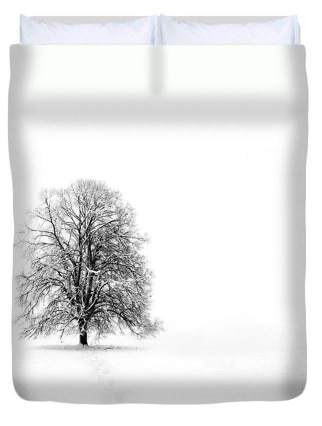 Landscape Duvet Cover featuring the photograph Silenzio by Jacky Gerritsen