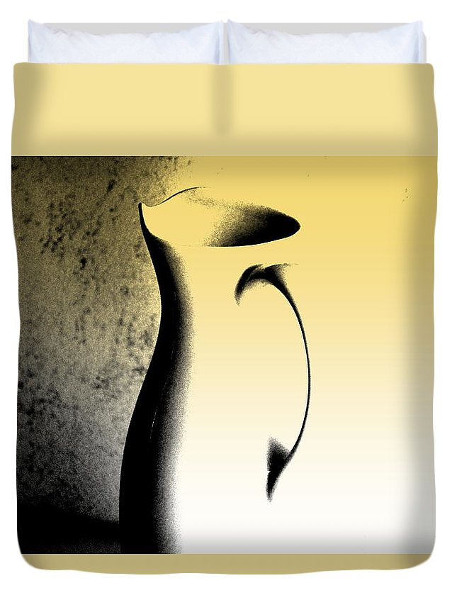 Contemporary Art Duvet Cover featuring the photograph Silhouette And Shadow Play by Marla McPherson