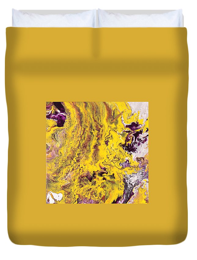 Fusionart Duvet Cover featuring the painting Silhouette by Ralph White