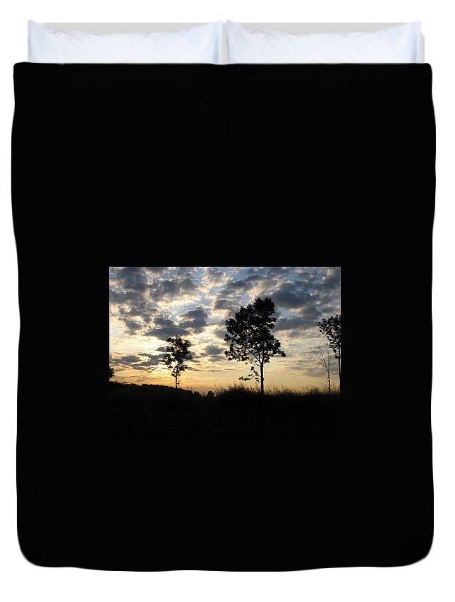 Landscape Duvet Cover featuring the photograph Silhouette by Rhonda Barrett