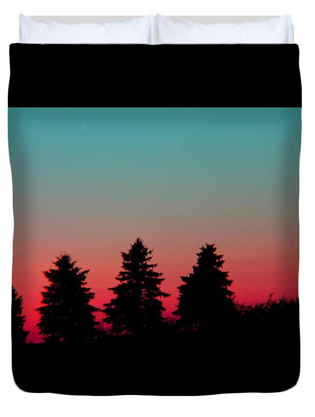 Trees Duvet Cover featuring the photograph Silhouettes by Jose Corona