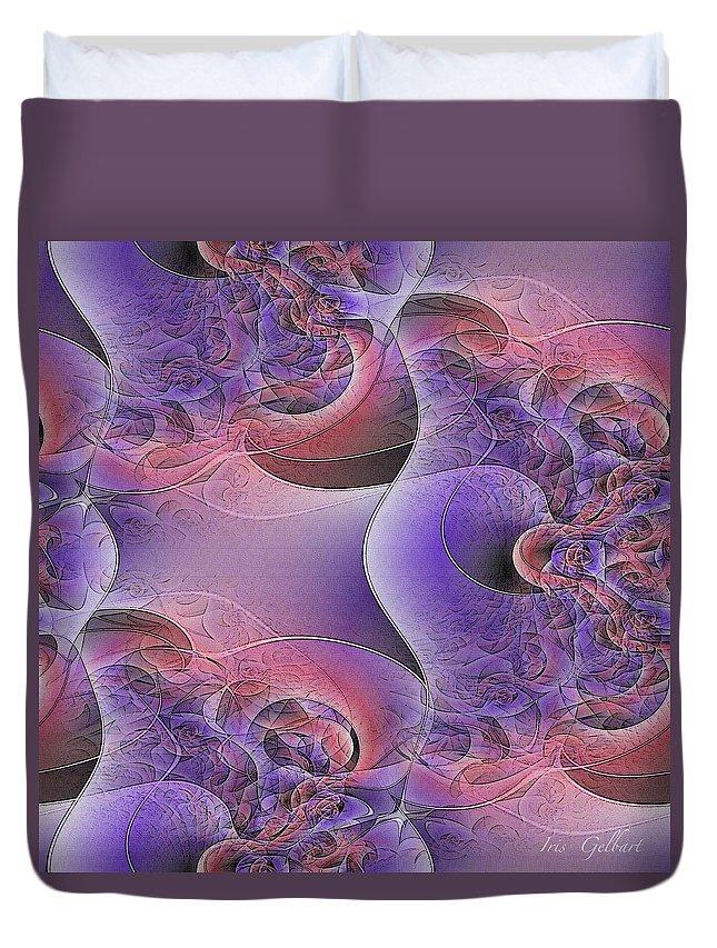 Abstract Art Duvet Cover featuring the digital art Silk Fabric by Iris Gelbart