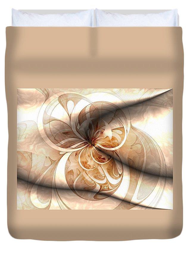 Digital Art Duvet Cover featuring the digital art Silk by Amanda Moore