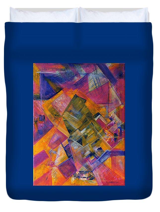Silk Duvet Cover featuring the painting Silk by Upasana Kedia